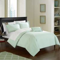 Chic Home Odin Combed Cotton Twin Duvet Cover Set in Aqua