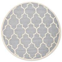 Safavieh Cambridge 6-Foot x 6-Foot Tara Wool Rug in Silver/Ivory