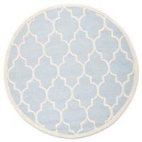 Safavieh Cambridge 6-Foot x 6-Foot Tara Wool Rug in Light Blue/Ivory