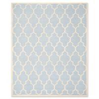 Safavieh Cambridge 8-Foot x 10-Foot Tara Wool Rug in Light Blue/Ivory