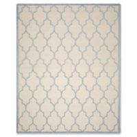 Safavieh Cambridge 8-Foot x 10-Foot Tara Wool Rug in Ivory/Light Blue