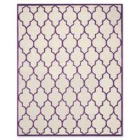 Safavieh Cambridge 8-Foot x 10-Foot Tara Wool Rug in Ivory/Purple