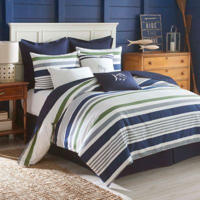 striped chinois white chic bed dwellstudio duvet stripe modern bookmark sets bedding draper blue set linens covers and comforter htm