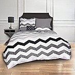 Greytone Chevron 8-Piece Queen Comforter Set in Grey