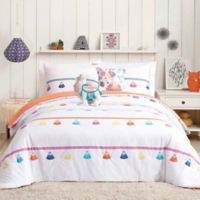 Urban Playground Painted Tassel 5-Piece Full/Queen Comforter Set in Coral