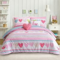 Urban Playground Daphne 4-Piece Twin Comforter Set in Pink