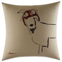 ED Ellen DeGeneres Alhambra Goat Helmet Square Throw Pillow in Flax