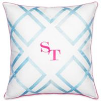 Southern Tide® Long Bay Embroidered Square Throw Pillow in White