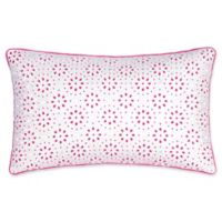 Southern Tide® Long Bay Eyelet Oblong Throw Pillow in Pink