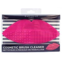 Cosmetic Brush Cleansing Mat in Bright Pink