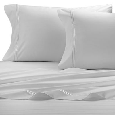 purecare 400thread count twin sheet set in white