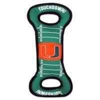 University of Miami Pet Football Field Tug Toy