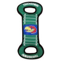 University of Kansas Pet Football Field Tug Toy