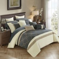 Chic Home Coco 16-Piece Queen Comforter Set in Beige