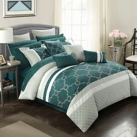 Chic Home Coco 16-Piece Queen Comforter Set in Teal