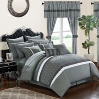 Chic Home Molly 24-Piece King Comforter Set in Grey