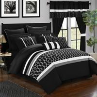 Chic Home Molly 24-Piece Queen Comforter Set in Black