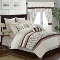 Chic Home Molly 24-Piece King Comforter Set in Beige