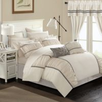 Chic Home 24-Piece King Comforter Set in Beige