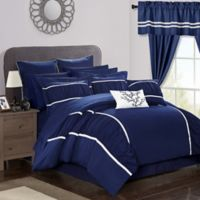 Chic Home 24-Piece Queen Comforter Set in Navy