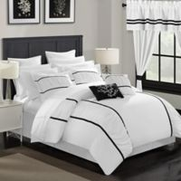 Chic Home 24-Piece Queen Comforter Set in Bright White