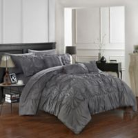 Chic Home Sheffield 10-Piece King Comforter Set in Charcoal