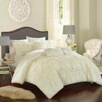 Chic Home Sheffield 10-Piece Queen Comforter Set in Beige