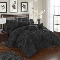Chic Home Sheffield 8-Piece Twin Comforter Set in Black
