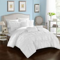 Chic Home Sheffield 10-Piece Queen Comforter Set in White