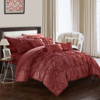 Chic Home Sheffield 10-Piece King Comforter Set in Brick