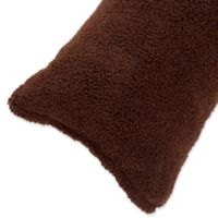 Nottingham Home Sherpa Body Pillow Cover in Chocolate