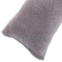 Nottingham Home Sherpa Body Pillow Cover in Grey