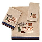 Avanti Gone Fishing Hand Towel in Linen