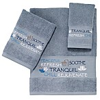 Avanti Spa Words Bath Towel in Blue