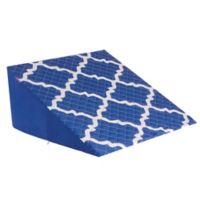12-Inch Premium Bed Wedge in Blue/White