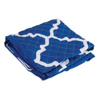 7-Inch Premium Bed Wedge Cover in Blue/White