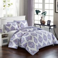 Chic Home Crosby Palace 3-Piece Reversible King Comforter Set in Lavender
