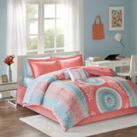 Intelligent Design Loretta 9-Piece Full Comforter Set in Coral