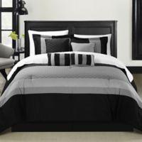 Chic Home Dreamz 8-Piece King Comforter Set in Black