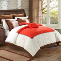 Chic Home Gliceria 7-Piece King Comforter Set in Red