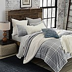 UGG® Tara Plaid Flannel Reversible Full/Queen Comforter Set in Grey/Snow White