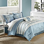 Chic Home Therry 7-Piece King Comforter Set in Blue