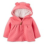 carter's® Newborn Sherpa-Lined Quilted Jacket in Pink