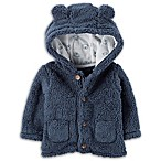 carter's® Newborn Sherpa Hooded Jacket in Navy