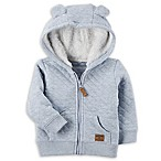 carter's® Newborn Sherpa-Lined Quilted Jacket in Light Blue