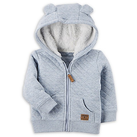 carter's® Sherpa-Lined Quilted Jacket in Light Blue