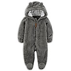 carter's® Newborn Hooded Sherpa Bunting in Grey