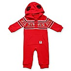 Rudolph Size 3M Hooded Coverall in Red