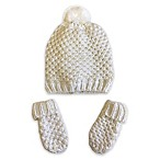Toby® Newborn 2-Piece Waffle Stitch Hat and Mitten Set in Ivory