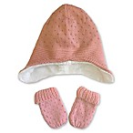 Toby™ Newborn 2-Piece Heidi Hat and Mitten Set in Pink